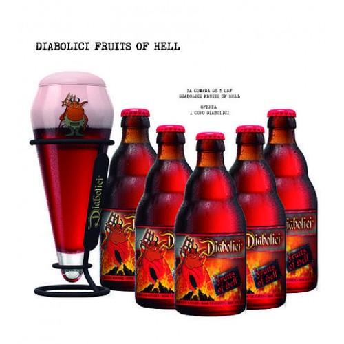Cerveja Diabolici Fruits of Hell Experience Box 330 ML Com OFERTA 1 Copo