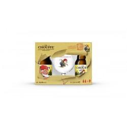 Cerveja La Chouffe 330ML (2 Gfas + 1 Copo)