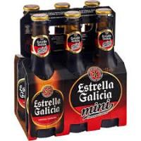 Pack 6 Cerveja Estrella Galicia Mini 200ML