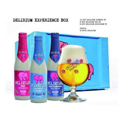 Cerveja Delirium Experience Box 330 ML Com OFERTA de 6 Copos