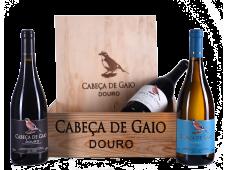 Conjunto 3 Garrafas Vinho Cabeça Gaio Reserva Tinto + Doc Tinto + Doc Branco