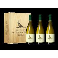 Conjunto Vinho Quinta da Pedra Escrita Reserva Branco 750ML