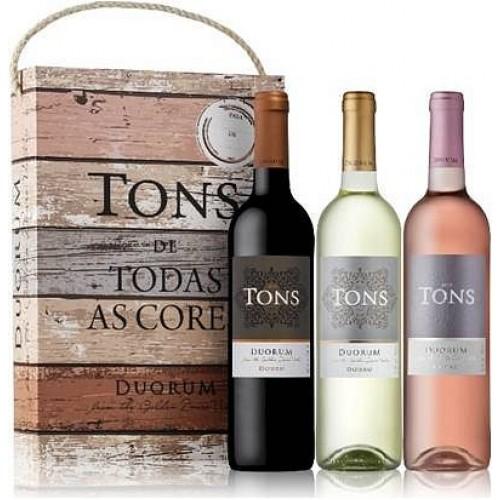 Conjunto 3 garrafas  Vinho Tons Duorum Tinto 750ML