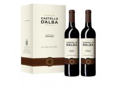Conjunto Vinho Castello D´Alba Colheita Tinto 750ML