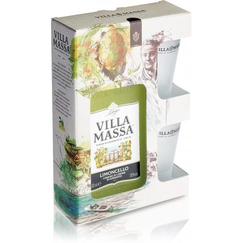 Limoncello Villa Massa 700ML Com 2 Copos
